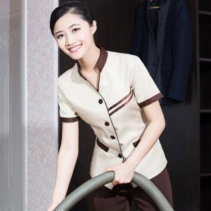 工艺订购生产定做保洁服夏装女保洁员工作服短袖阿姨工作服清洁工服装