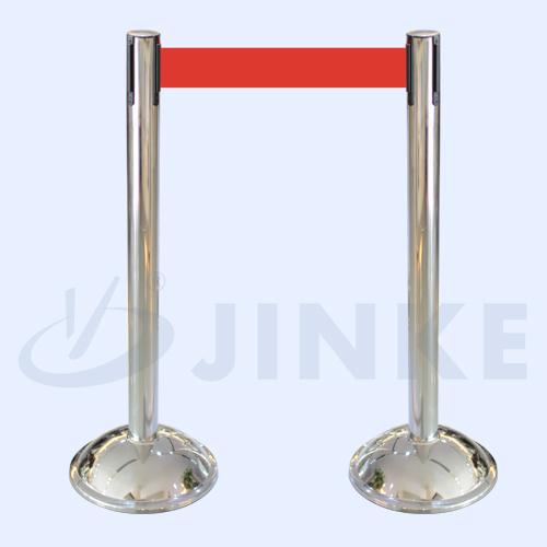 定制金柯不锈钢弧形底座栏杆座 出口栏杆座 酒店栏杆座 一米线排队栏