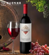 圣茱莉亚精选赤霞珠干红葡萄酒箱装 阿根廷原瓶进口红酒