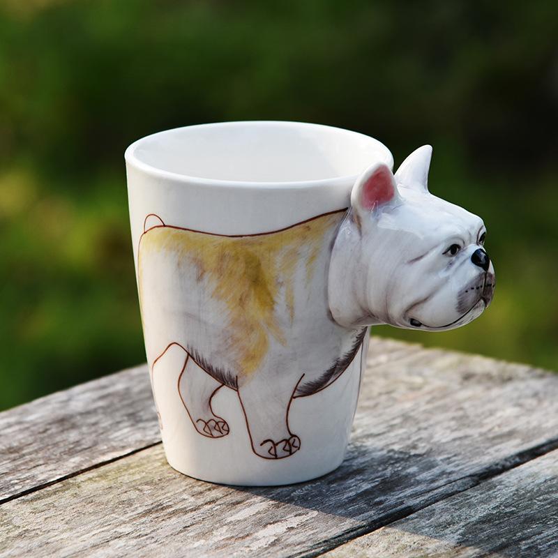 3d 立体 水杯 马克杯 手绘陶瓷 手绘陶瓷杯 动物杯 杯子 logo定制
