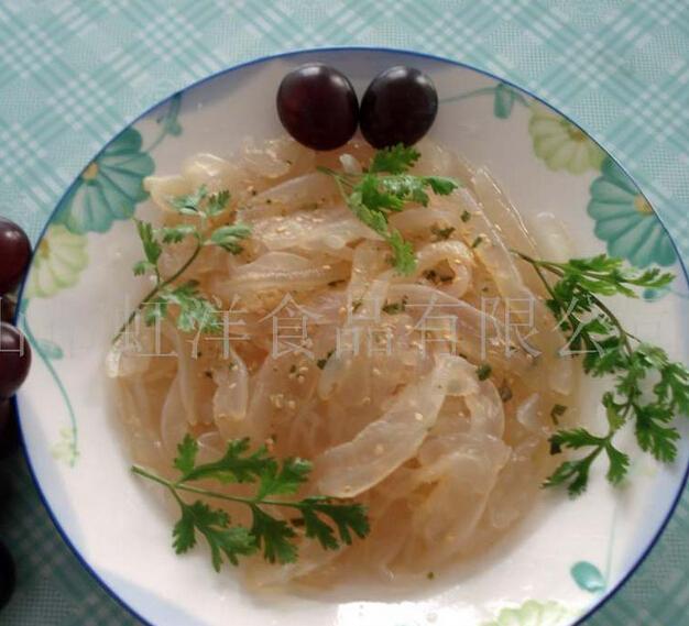 供应海产品虹洋食品 即食海蜇 (麻辣味) 特产 健康原生态食品 海味人家