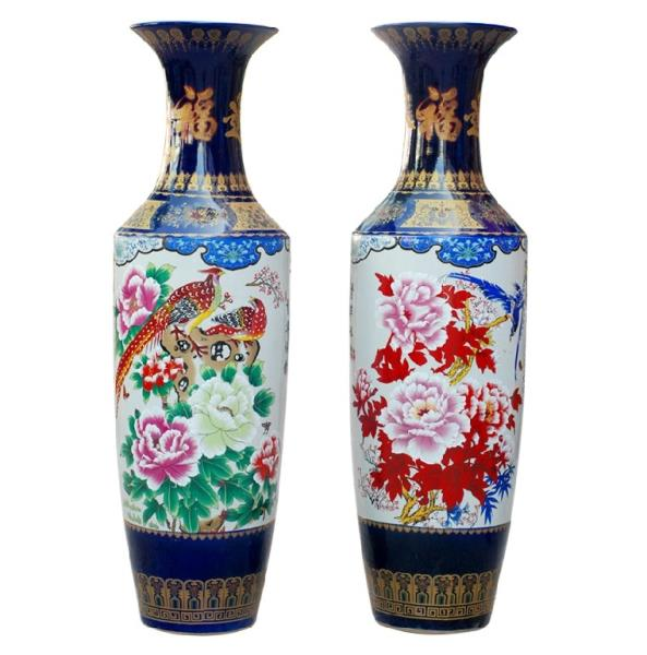 供应景德镇陶瓷落地大花瓶 结晶釉落地大花瓶 装饰礼品