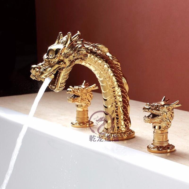 动物水龙头 龙型龙头 艺术面盆龙头 冷热水龙头 全铜 开平制造图片