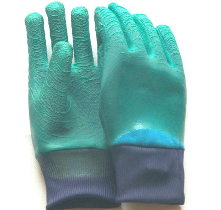 全浸胶手套材质进口天然乳胶内衬含棉80%以上手套防水结实耐用