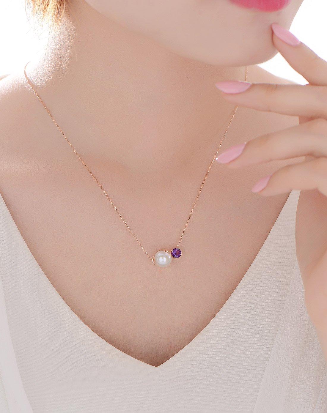 北海珍珠批發   北海淡水珍珠18K寶石珍珠項鏈時尚項鏈
