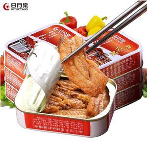 台湾进口鱼罐头 日月棠红烧鳗鱼罐头肉6罐 即食海鲜熟食品罐头鱼