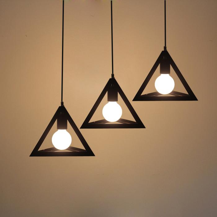 北欧宜家复古吧台loft三头创意个性餐厅灯饰灯具铁艺咖啡工业吊灯