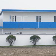 河北衡水简易活动房搭建岩棉复合板祈虹彩钢板房
