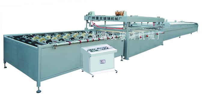 供应广州重友ZY-ZD183全自动户外室内彩釉玻璃印刷生产线