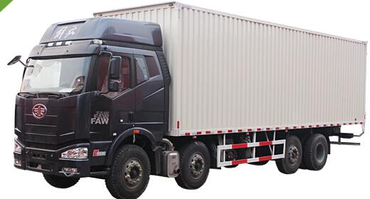 一汽解放 J6M 260马力 8×2 国四 厢式货车