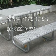 花园铁桌椅组合 广场铁质休闲桌椅 园林餐桌椅
