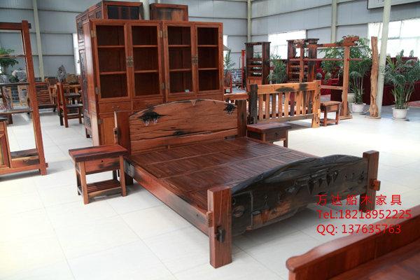 老船木家具原生态家具船木主人椅子船木茶台