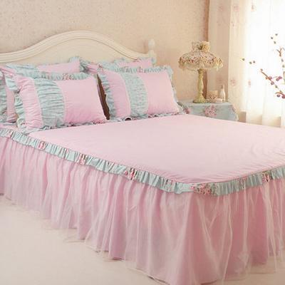 家纺韩式纯棉四件套 田园床上用品全棉床单被套公主新年床品