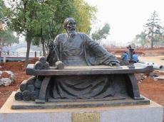 古代名人名仕仿铜铸铜雕塑
