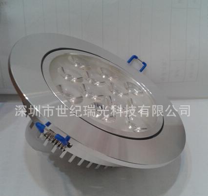 厂家大量供应新款厚料刀片商业用3W-12W LED天花灯,连体透镜灯