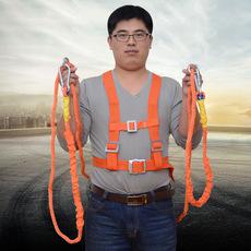 双背建筑施工安全带双绳单绳空调安装架子工保险带全身五点大小钩