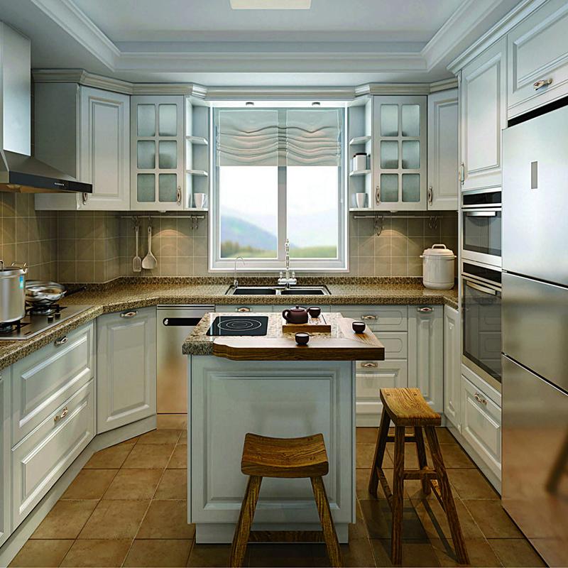 厂家直销 整体板式橱柜 简易厨房柜子门 橱柜 接受定做