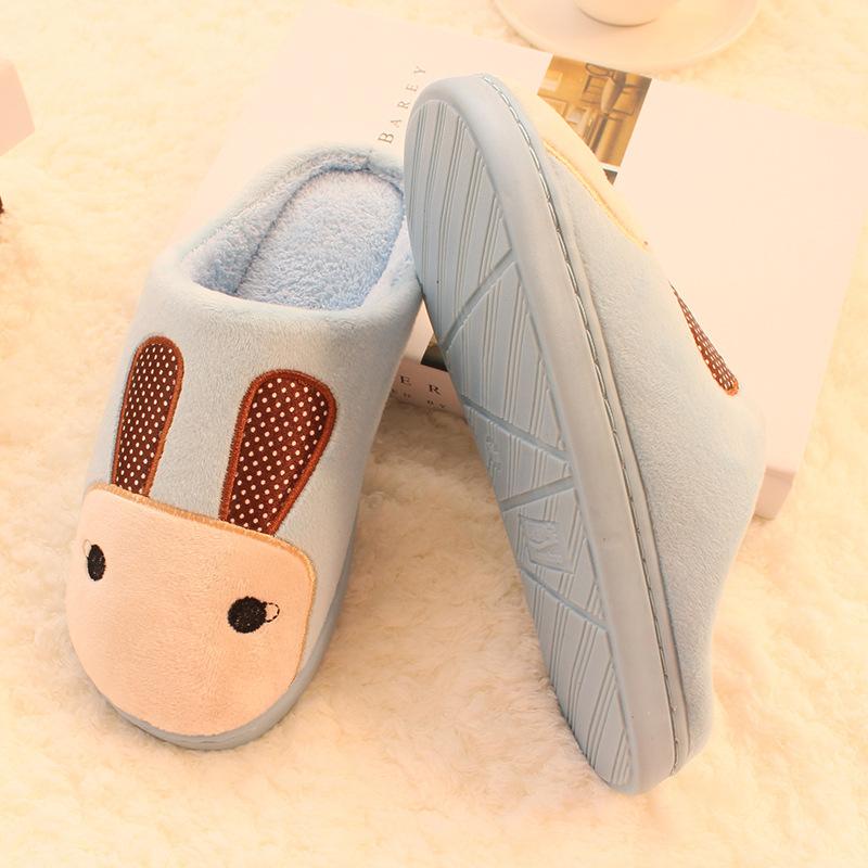 棉拖鞋点点兔冬季男女情侣家居家保暖室内可爱半包跟