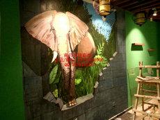 江西鹰潭 九江吉安彩绘手绘墙涂鸦文化墙彩绘 古建筑门楼制作!