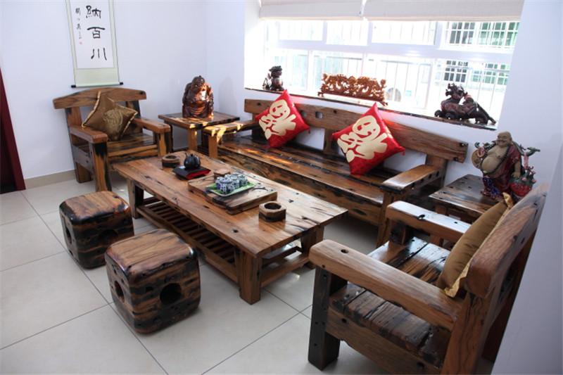买老船木家具家私上万达船木家具厂