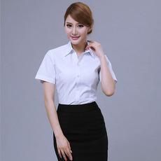 服装加工定制职业装修身版正装衬衫批发棉麻女装上衣V0115