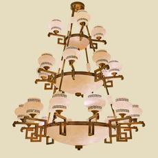全铜云石吊灯 天然云石吊灯 西班牙云石吊灯