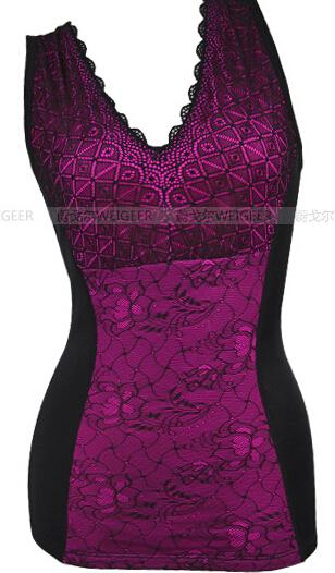 时尚保暖背心厂家 女加厚加绒背心塑身美体抹胸保暖内衣