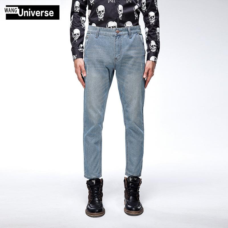 2016夏季新款韩版修身牛仔裤舒适纯棉男士经典直筒长裤 厂家直供