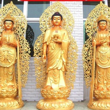 2米贴金铜雕佛像