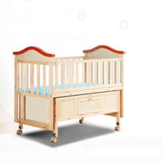 富贵宝贝 168儿童床哄睡摇篮床多功能婴儿床实木摇床宝宝床
