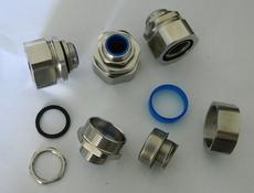 福莱通供应穿线金属软管配套接头,G3/4