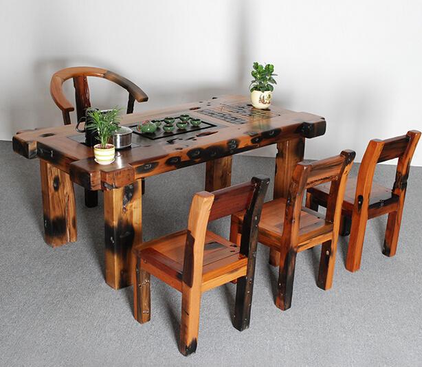 老船木茶桌茶台原生态原木实木茶几沉船木家具