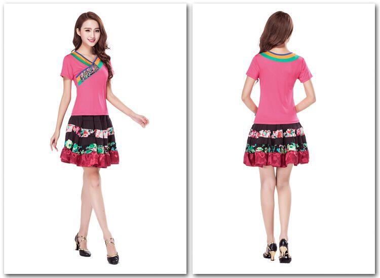 春夏装舞蹈服 广场舞服装套装跳舞新款 拉丁舞服装女图片