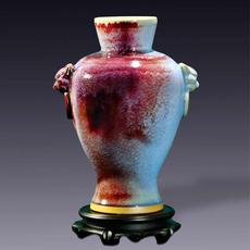 虎头瓶 国粹钧窑现代艺术经典摆件观赏类高端礼品