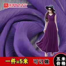 雪纺布料绉雪纺高档面料 纯色汉服古装连衣裙子内衬上衣窗帘夏季