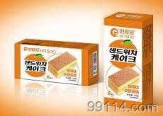 好食多120g夹层蛋糕【香橙味】韩国休闲零食品/烘烤类糕点/方块蛋糕/方形蛋糕