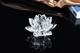 定制佛教用品 三层水晶玻璃莲花座 水晶工艺品 礼品莲花摆件