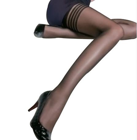 供应梦娜包芯丝连裤美腿塑形长筒袜