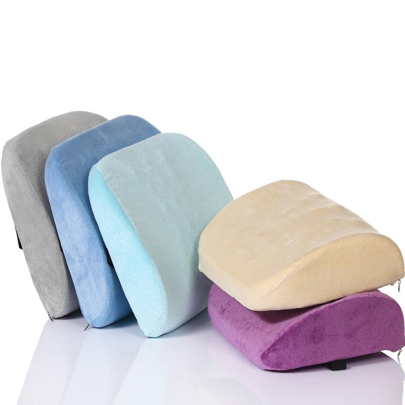 记忆棉护腰靠垫 办公室座椅腰垫汽车用保健靠背按摩靠枕大号 批发
