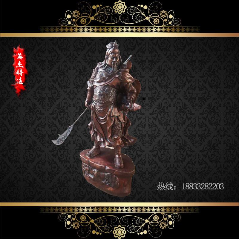 供应  关公雕塑 高140cm  雕刻精美  一流工艺  厂家定制