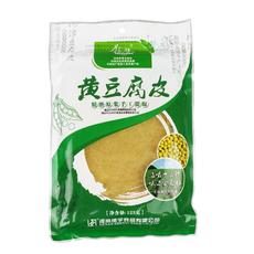 供应优质振豫透明包装营养鲜美绿色食品黄豆腐皮125g