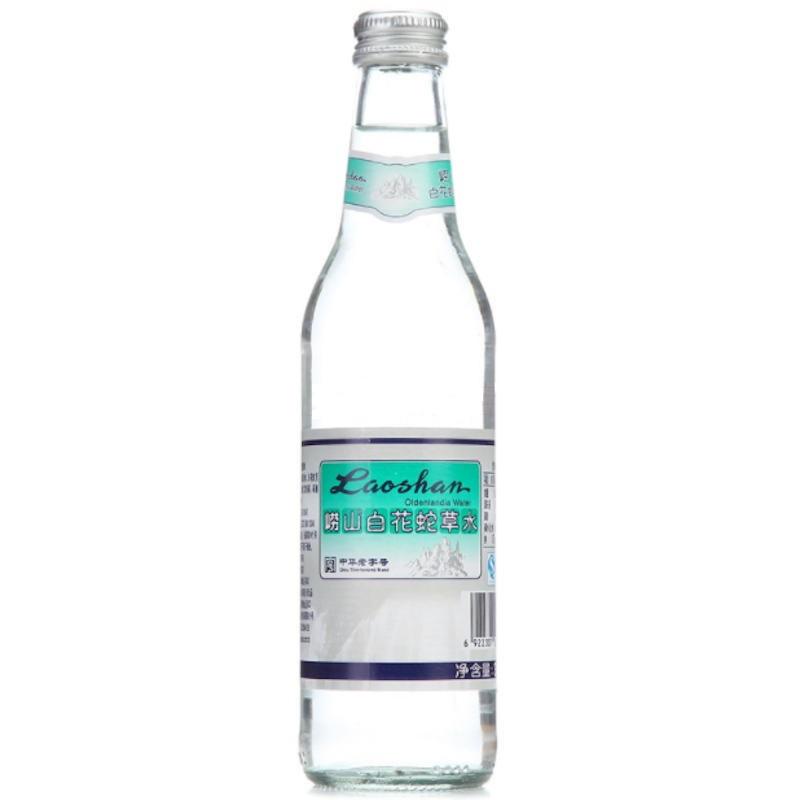 供应 崂山亚博app官方下载白花蛇草水330mlx24瓶玻璃瓶整箱