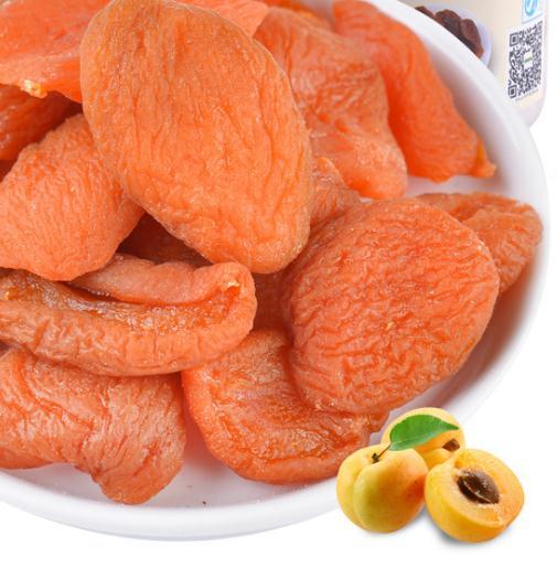 品食魔坊休闲零食 水果干果脯杏肉 红杏干500g罐装 批发
