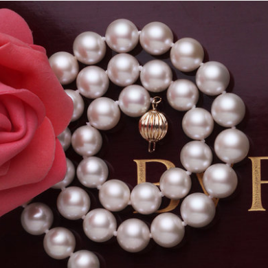 北海珍珠批发淡水珍珠项链 10-11 大颗珍珠