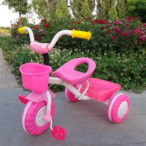 潮童品牌儿童三轮车带后斗
