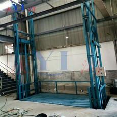 根据客户要求定做固定导轨升降机  工厂仓库货梯定做