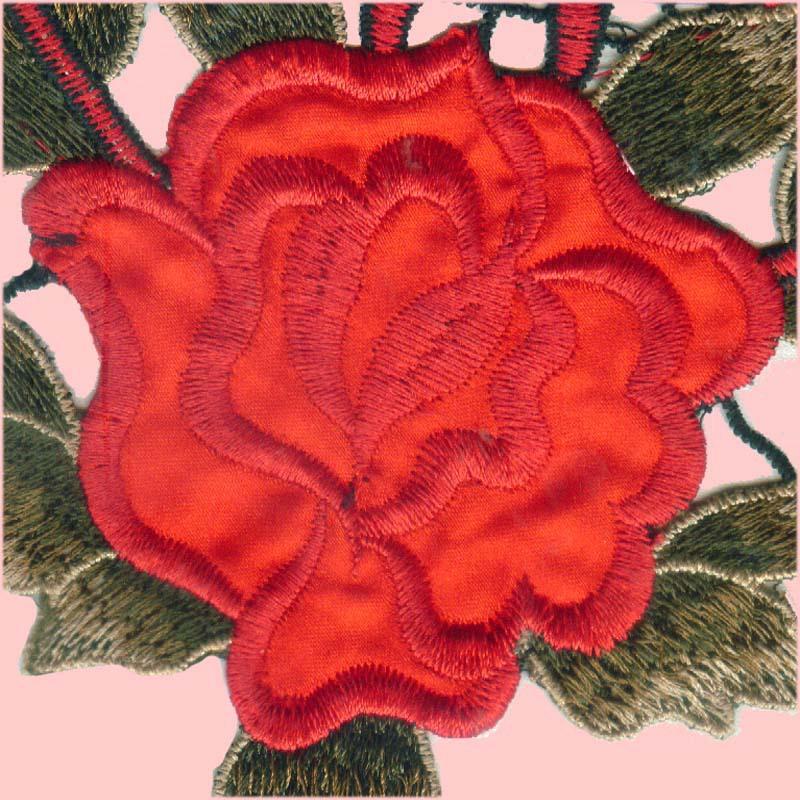 刺绣 彩色多色 水溶领花 衣服贴花 绣花 DIY布贴花边