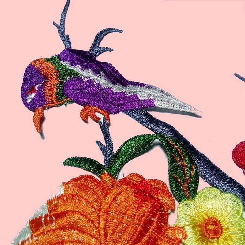 身衣绣直销 水溶多色彩色涤纶花朵 衣服贴花 娄空绣花 花边