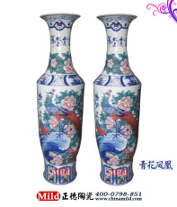 景德镇陶瓷花瓶 创意礼品陶瓷大花瓶