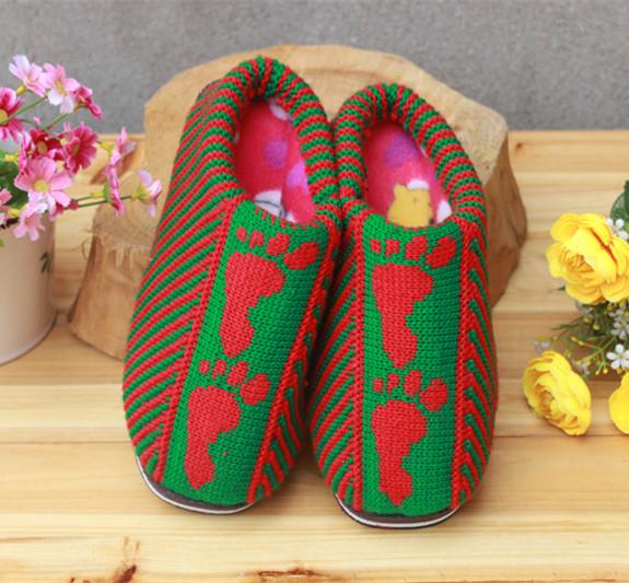 手工编织毛线棉拖鞋精品喜庆嫁鞋系列棉拖鞋